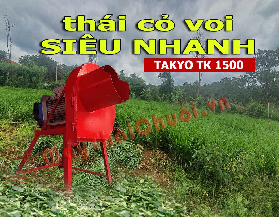 Takyo-Tk1500, băm thức ăn cho trâu