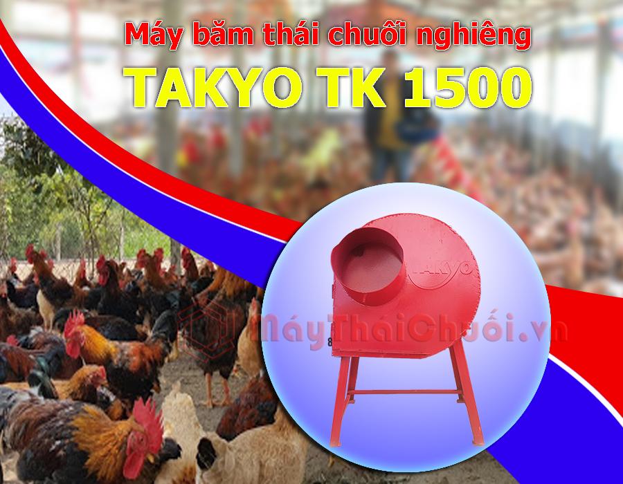 Máy thái chuối mịn chăn nuôi gà Takyo-Tk1500