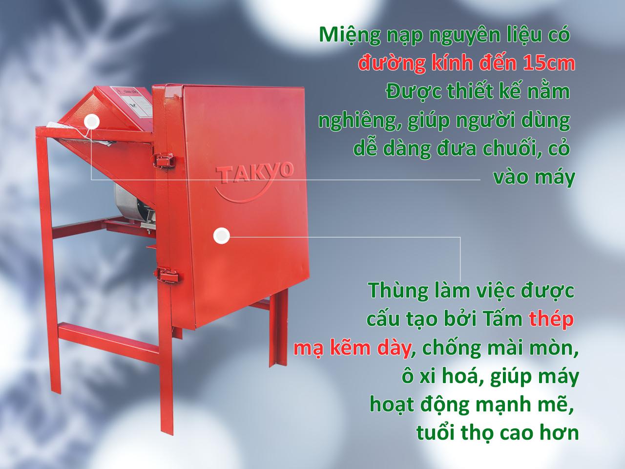 Hình ảnh thực tế của máy thái chuối, máy thái cỏ voi Takyo TK15