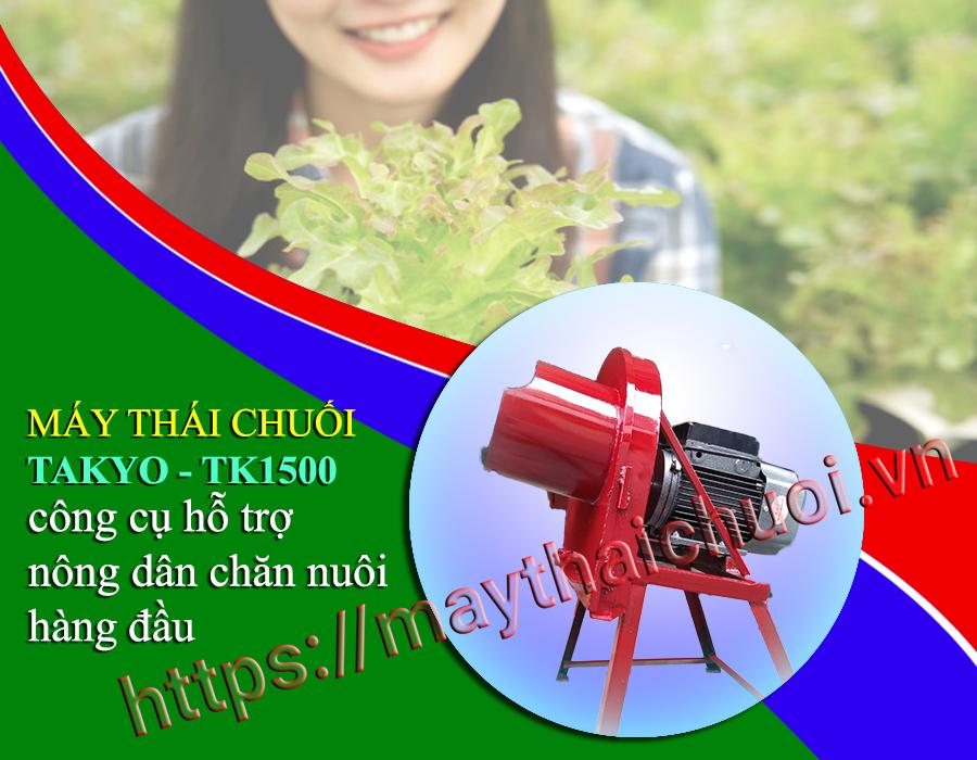 Máy thái chuối mịn chăn nuôi de Takyo-Tk1500