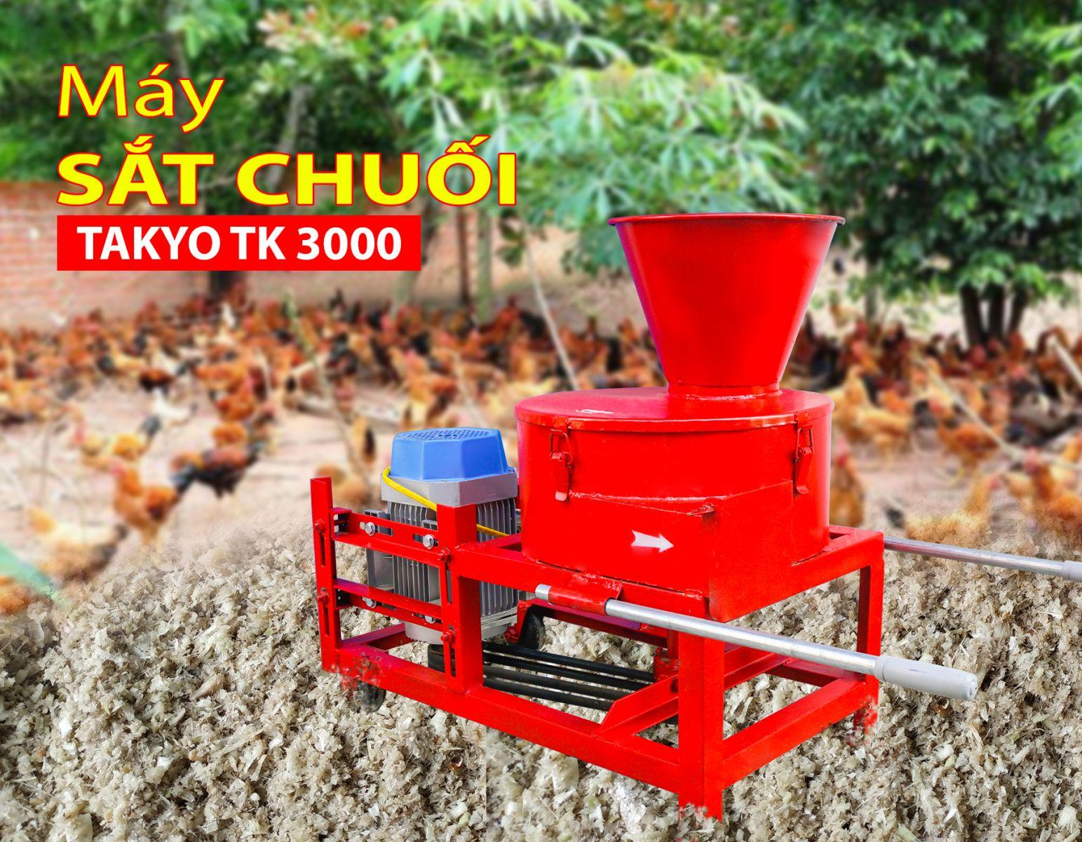 Máy xăt chuối nhuyễn cho gà, vịt, cá Takyo Tk 300