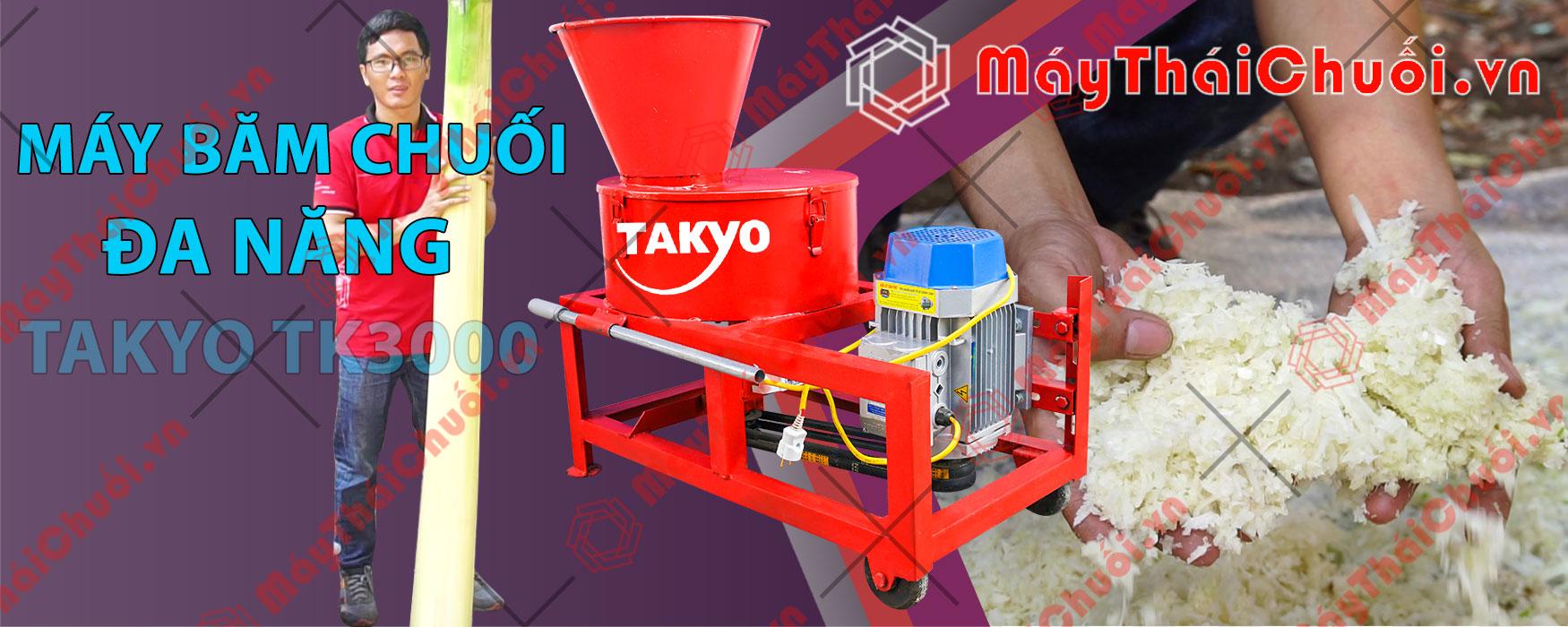 >Chăn nuôi gà vịt hiệu quả với dòng máy băm chuối đa năng Takyo TK3000
